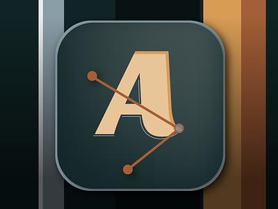App Icon 005 dailyui mobile ui mobile ui graphic type letter vector icon app icon