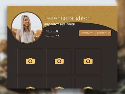 Daily UI Profile Page ux ux design web design 006 dailyui user interface ui profile