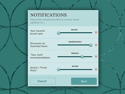 Settings - DailyUI 007 scale blue notify email ux design ui design user interface ui settings notifications 007 dailyui