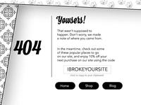 404 Web Page