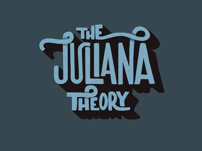 Juliana Theory lettering typography hand lettering logo bands the juliana theory