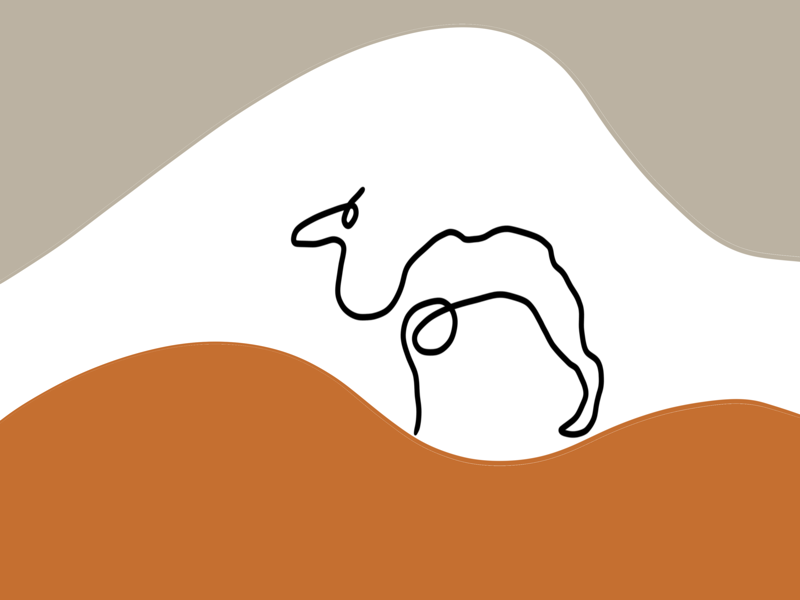 Camel lineart graphicdesign