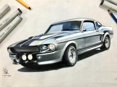 Eleanor GT500-Sketch