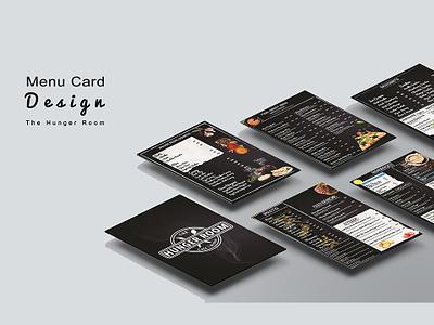 Menu Card design food menu card restourant menu design paper typography branding vector illustration