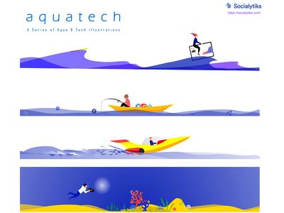 Aquatech Web illustrations