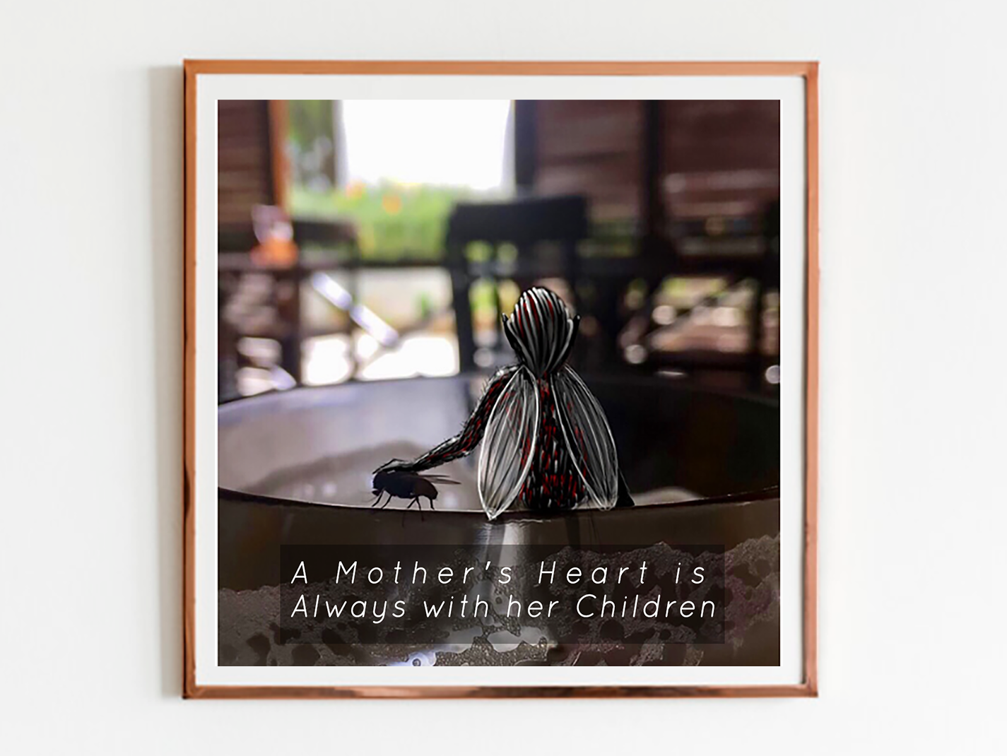 Mothers Love graphicdesign photographer adobe frame branding ux ui minimal insect organic fly mothers day photoillustration photography photo design typography art artworks illustration