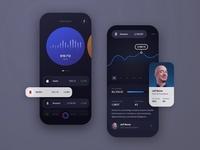 Stock Portfolio App UI Research #3 netflix amazon bezos value interaction ux ui interface iphone design sketch concept product graph chart mobile app market stock