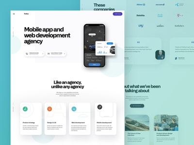 Profico Website website showcase growth media car anaytics app studio homepage branding profile company dashboard mobile design portfolio agency web simple flat