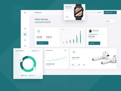 Campaign Analytics Dashboard success kpi media modern campaign product ux ui analytics dashboard flat