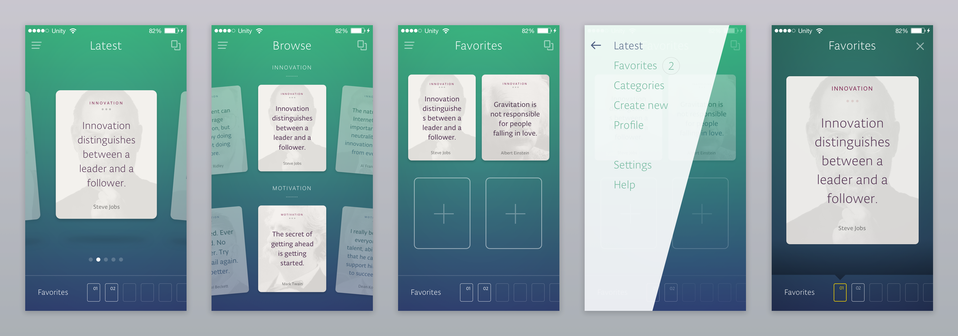 Quotes App Sketch Freebie By Ante Matijaca For Profico On Dribbble