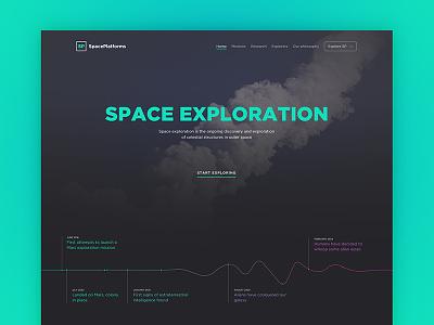 Space Exploration Web Freebie retina graph simple analytics cool web template freebie psd free