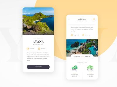 Travel App Exploration booking colors destination luxury clean travel ui ux