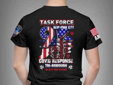 COVID Response Team Task Force 9 T-shirt Design creative responce emergency police taskforce newyork covid-19 design vector tshirt art illustration apparel branding typography tshirtdesign t-shirts tshirt