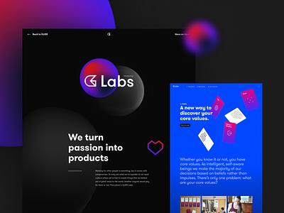 G-Labs web abstract gradient webdesign website design website
