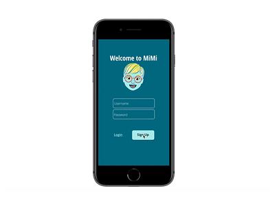 MiMi App Onboarding design app ux ui