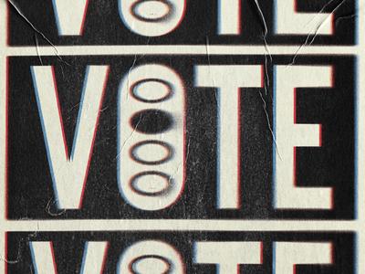 VOTE design 2020 grunge grit texture election vote