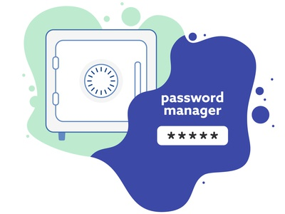 Keep your account safe password safety safe illustration