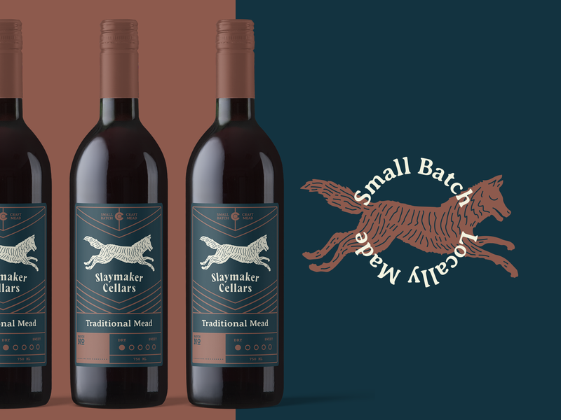 Slaymaker Cellars Label Design minimal illustration typogaphy layout label design packaging badge design identity typography clean design branding