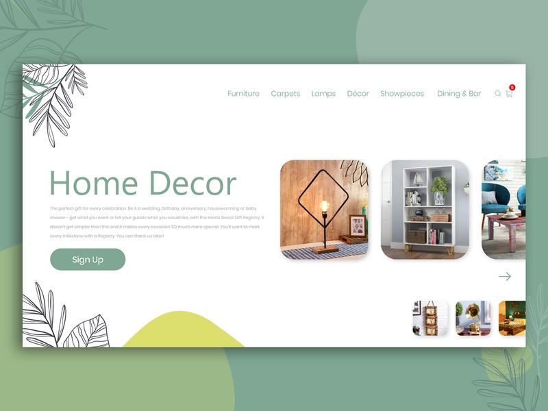 Home Decor Banner uidesign mumbai india mobileappdesign adobe xd adobe photoshop photoshop webdesign uiux ui