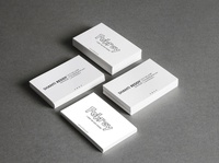 White Elegnat Visiting Card For Client