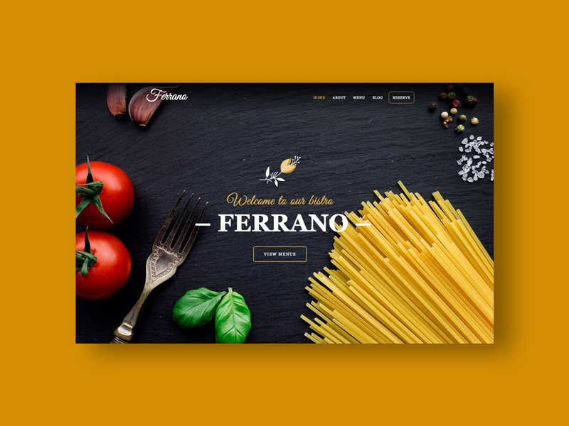 Ferrano Cms Restaurant Website Template By Webcanyon On