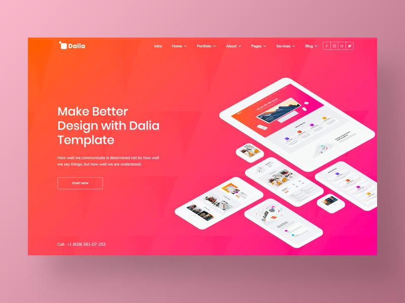 Dalia – UI Kit Website Template shop branding typography interaction minimal ux web webdesign webflow website corporate site business homepage agency ui app design landing ui kit