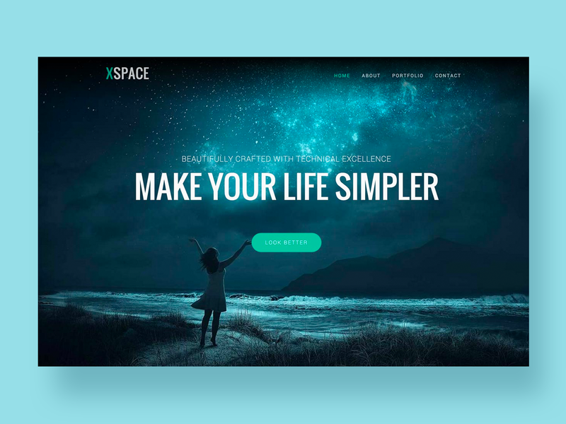Xspace – Agency Website Template clean shop bussines flat corporate page interaction minimal typography site homepage app agency design ui web website landing