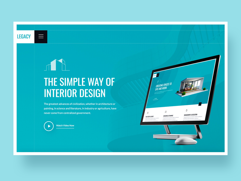 Legacy – Architecture Website Template building architecture real estate landing interaction typography homepage business corporate ux design app agency ui web website