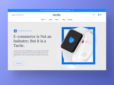 Arctic – Ecommerce Website shopping watches sale shopify shop minimal interaction branding design ux site page corporate website agency landing web ui app