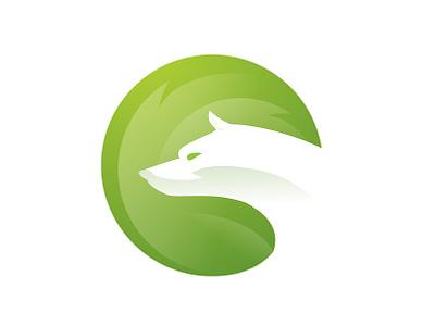 Green Wolf design app identity brand logo design ilustration corporate icon typography branding vector agency ui earth green logotype logo