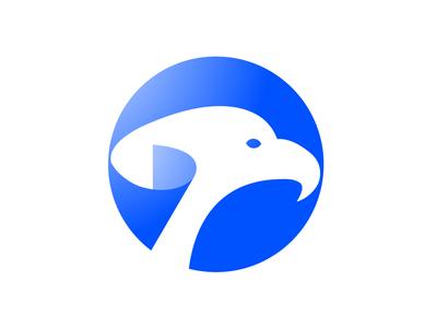 Eagle Page icon typography branding logo design blue flyer ilustration vector minimal site agency app ui corporate identity brand design logo