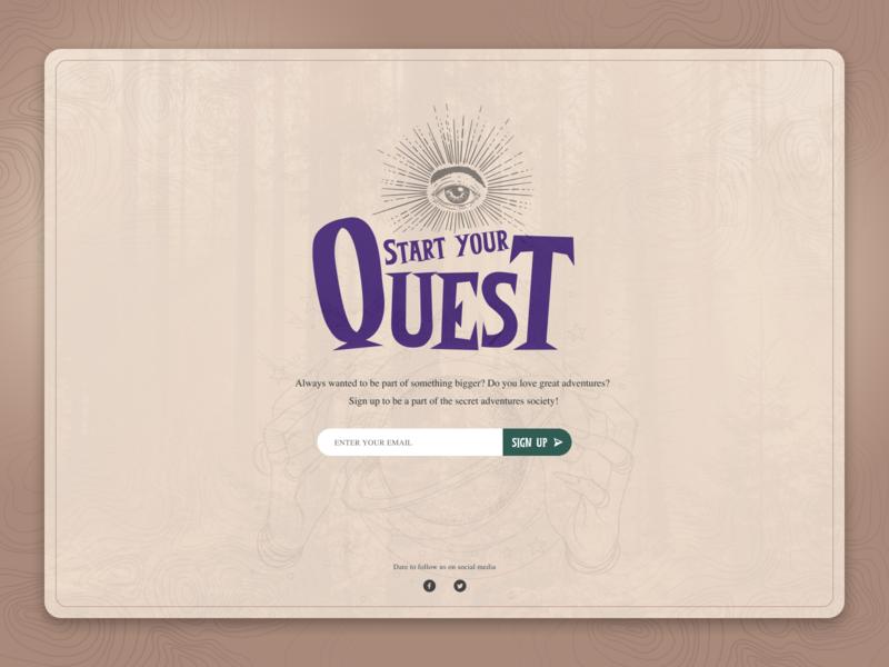 DailyUI 001 Signup website webdesign web adventure ux vector uidesign ui dailyui 001 dailyui sign up