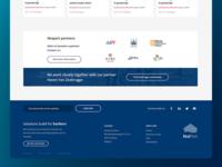 Nxtport community webpage footer