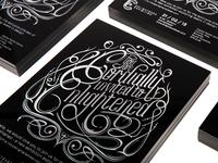 Enlightened Exhibition Invitations