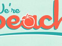 We're Peachy (mockup)