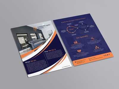 Multifamily Equity  Partners Flyer Design