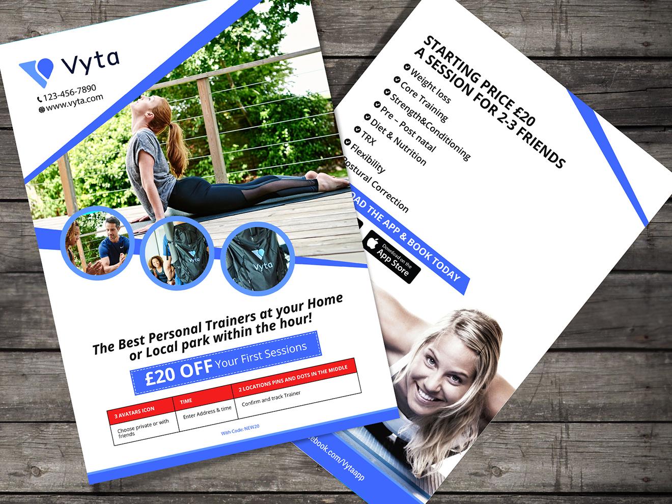 Vyta Flyer Design flyers fab flyer post card design icon branding ad flyer design flyer advertisement advertise