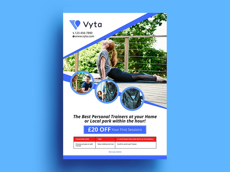 Vyta Flyer flyer advertisement fab flyer illustration post card flyer design branding icon ad flyers design advertise