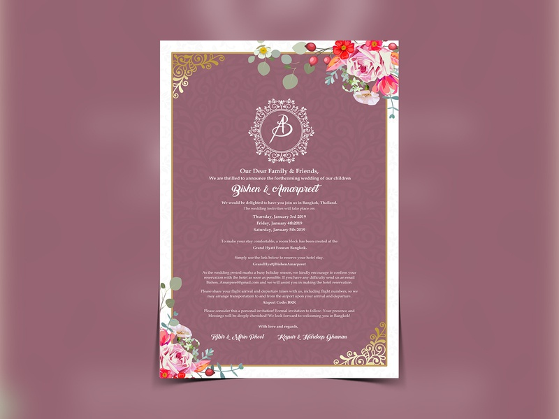 Wedding Invitation Card Flyer Design By Fab Flyers On Dribbble