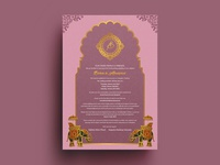 Wedding Invitation Card Concept Flyer Design