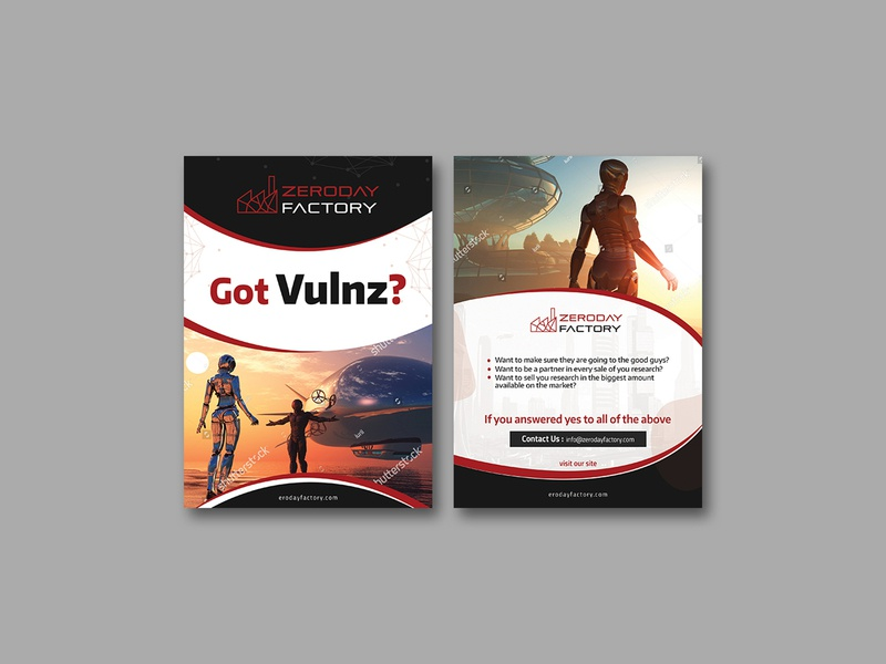 Zeroday Factory Flyer Design flyer flyers card post card icon branding fab flyer flyer design zeroday advertisement design ad illustration advertise