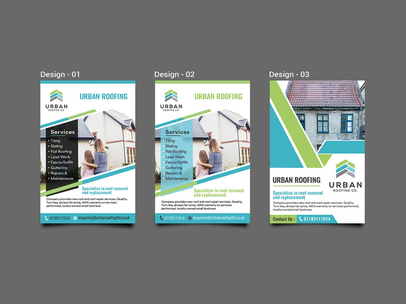 Urban Roofing Flyer Design flyer flyers advertisement flyer design card post card branding fab flyer illustration ad design advertise