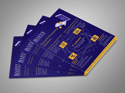 Payment Processing Solution Flyer Design basys flyer design fab flyer flyers design flyer illustration card post card branding ad advertisement advertise