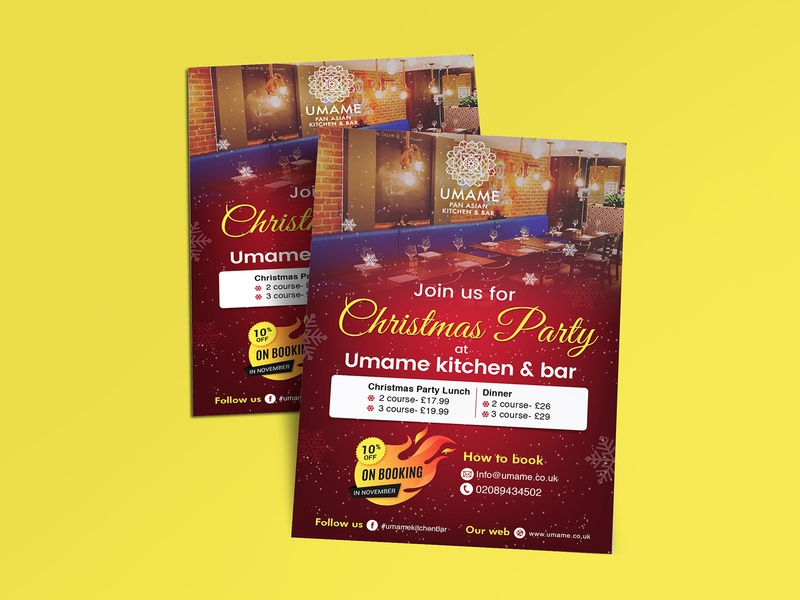 Christmas Party Flyer Design fab flyer flyer flyer design flyers card post card branding ad design advertisement advertise