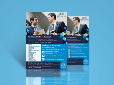 Business Skills To Succeed flyers flyer flyer design fab flyer illustration card ad post card branding design advertisement advertise