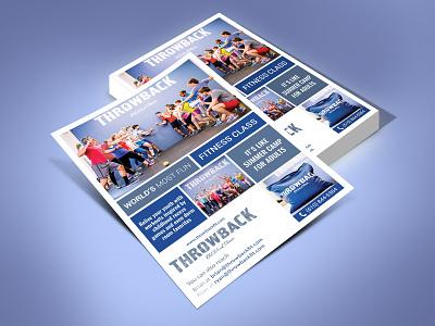 Throwback Flyer Design fab flyer flyers flyer design flyer design card ad post card illustration branding advertisement advertise