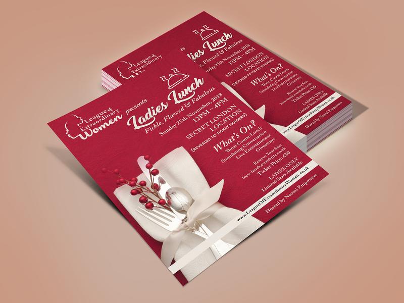 Ladies Lunch Concept Flyer Design fab flyer flyers flyer flyer design ad card illustration branding post card design advertisement advertise