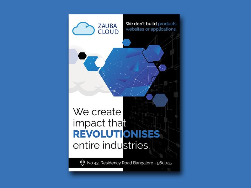 Zauba Cloud Banner Design flyers fab flyer flyer design flyer design illustration card ad post card branding advertisement advertise