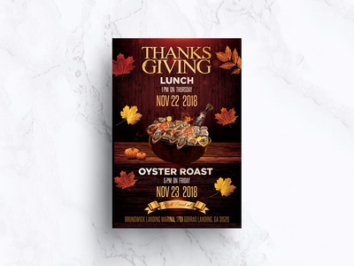 Thanks Giving Lunch Flyer Design