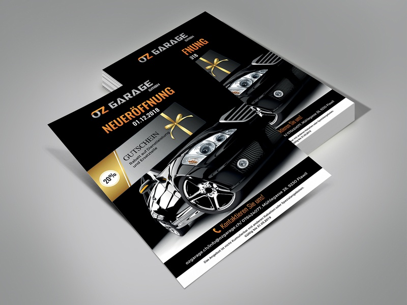 OZ Garage Flyer Design flyer flyer design flyers ad card illustration design branding post card fab flyer advertisement advertise
